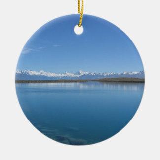Lake Tekapo, New Zealand Ceramic Ornament