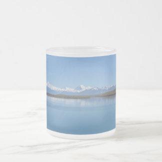 Lake Tekapo, New Zealand Frosted Glass Coffee Mug