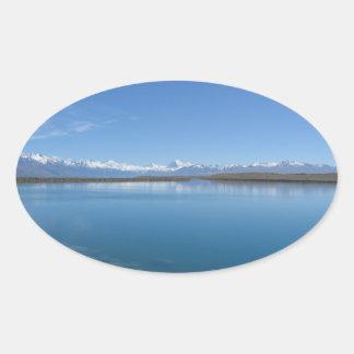 Lake Tekapo, New Zealand Oval Sticker
