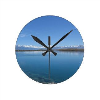 Lake Tekapo, New Zealand Round Clock