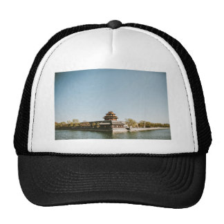Lake Themed, A Picture Of A Buddhist Monarchy Surr Trucker Hat