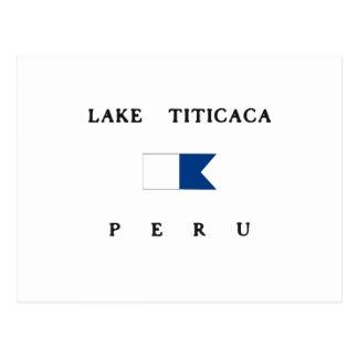 Lake Titicaca Peru Alpha Dive Flag Postcard
