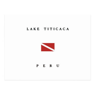 Lake Titicaca Peru Scuba Dive Flag Postcard