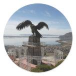 Lake Titicaca Puno Peru Classic Round Sticker