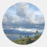 Lake Toba in Sumatra Round Stickers