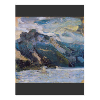 Lake Traunsee with mountains by Richard Gerstl Postcard