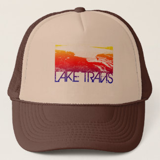 Lake Travis Skyline Design Trucker Hat