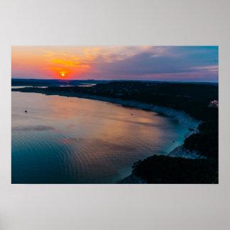 Lake Travis Sunset Poster