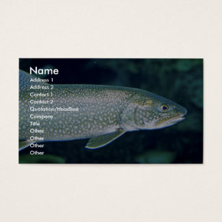 Lake Trout Business Card