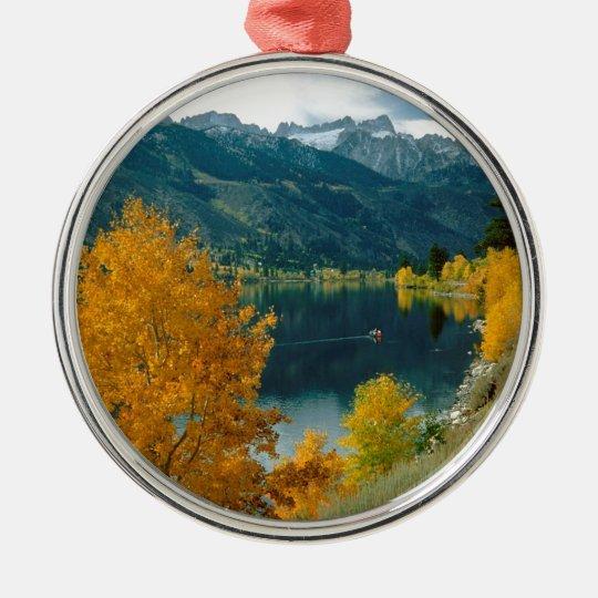 Lake Twinsawtooth Toiyabe Forest Metal Ornament