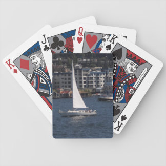 Lake Union Seattle Sailboat Playing Cards