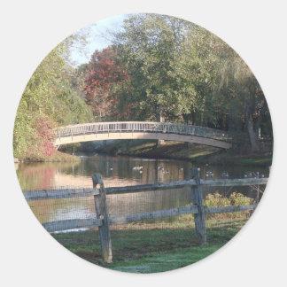 Lake View Classic Round Sticker