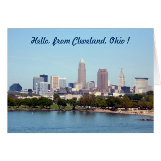 Lake View (Edgewater) Cleveland Ohio Greeting Card Greeting Card