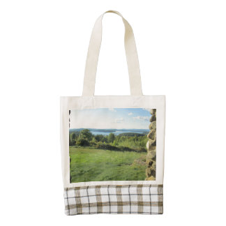 Lake View from Gilford Zazzle HEART Tote Bag