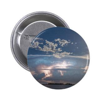 Lake View Lightning Show Pinback Button