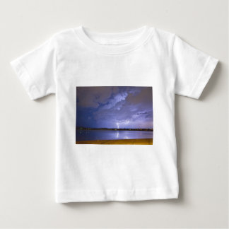 Lake View Lightning Thunderstorm Baby T-Shirt
