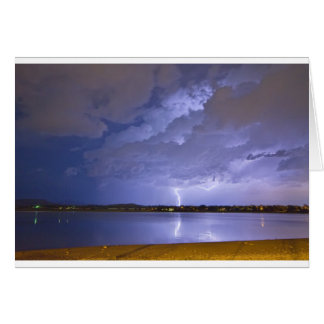 Lake View Lightning Thunderstorm Card