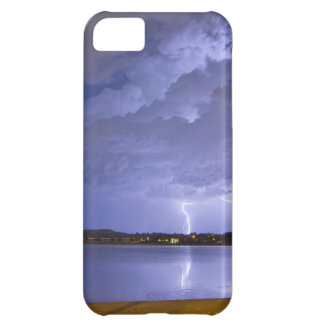 Lake View Lightning Thunderstorm Cover For iPhone 5C
