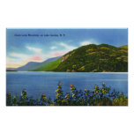 Lake View of Deers Leap Mountain Posters