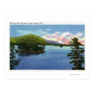 Lake View of Shelving Rock Mountain Postcard