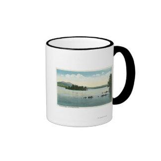 Lake View of the Belknap Mountains Ringer Coffee Mug