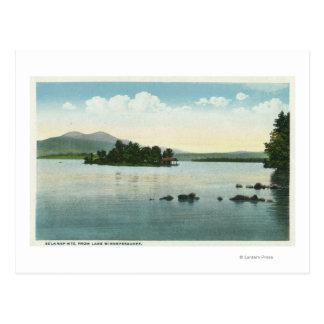 Lake View of the Belknap Mountains Postcard