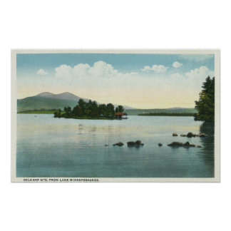 Lake View of the Belknap Mountains Poster
