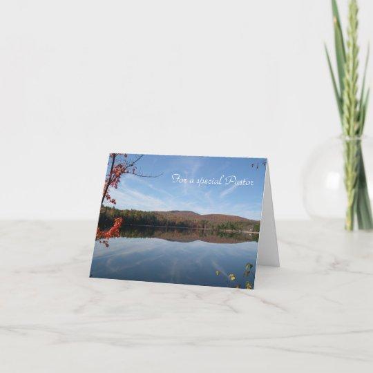 Lake View Pastors Birthday Card Zazzle