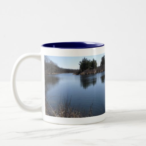 Lake View Two-Tone Coffee Mug