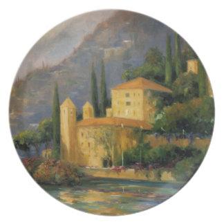 Lake Villa Melamine Plate