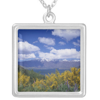 Lake Wakatipu and the Remarkables, Queenstown, Square Pendant Necklace