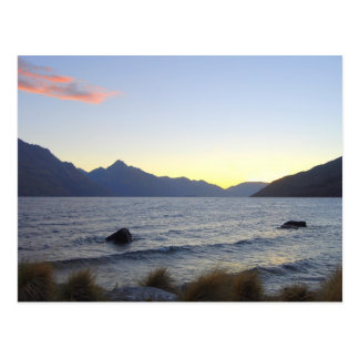 Lake Wakatipu at Sunset, Queenstown, NZ Postcard