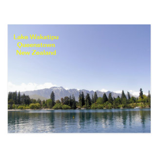 Lake Wakatipu Queenstown New Zealand Postcard