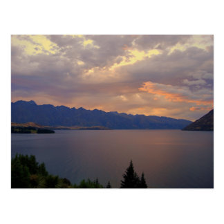 Lake Wakatipu Sunset, Queenstown, NZ Postcard
