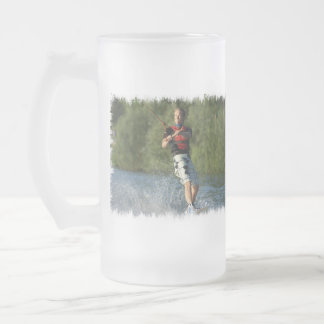 Lake Wakeboarder Frosted Beer Mug