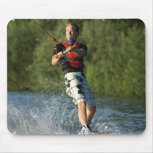 Lake Wakeboarding Mouse Pad