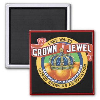 Lake Wales Crown Jewel Orange 2 Inch Square Magnet
