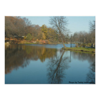 Lake, Washington Park Photo by Teddy Hedrington Poster