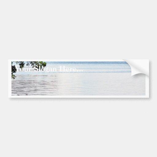 Lake Water On Wind Bumper Stickers
