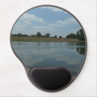 Lake Water Reflects the skies Fluffy White Clouds Gel Mouse Pads