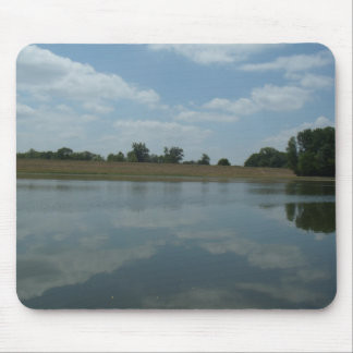 Lake Water Reflects the skies Fluffy White Clouds Mouse Pad