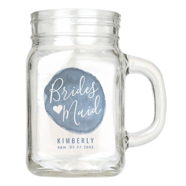 Lake Water Stain | Custom | Bridesmaid Mason Jar