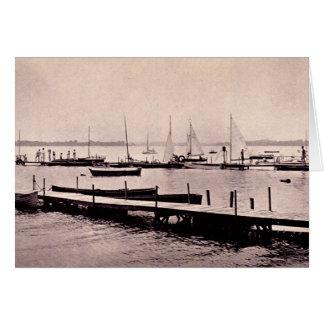 Lake Wawasee Indiana Sailboats Card