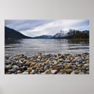 Lake Wenatchee Rocks Print