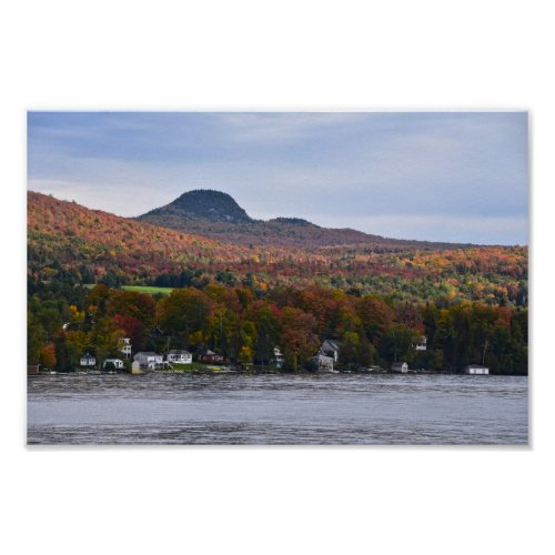 Lake Willoughby, Vermont, in Autumn Poster
