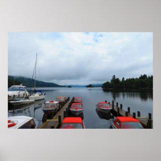 Lake Windemere s Boats Print