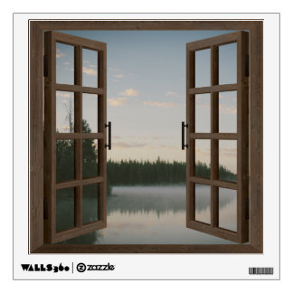 Lake Window Frame Wall Graphic