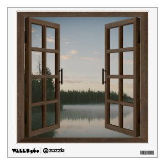 Lake Window Frame Wall Graphic