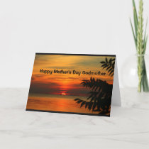 Lake Winnebago Sunset Happy Mother's Day Godmother Card