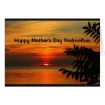 Lake Winnebago Sunset Happy Mother's Day Godmother Card